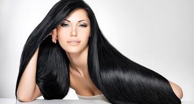 брюнетка нарощенные волосы
