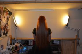 рыжие волосы после наращивания
