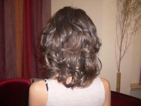 каштановые волосы после наращивания