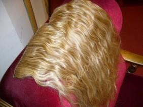 накладные пряди цвета золотистый блонд