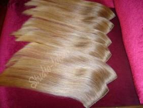 накладные пряди цвета блонд