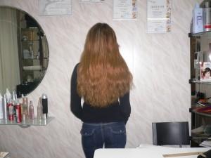длинные волосы цвета лесной орех