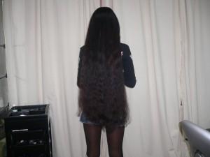 наращивание длинных черных волос
