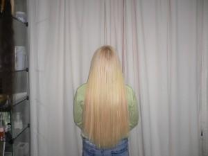 прямые волосы после наращивания
