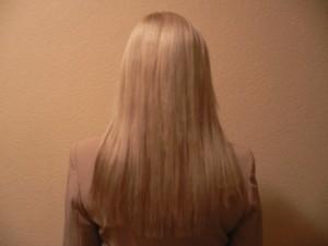 светлые волосы после наращивания