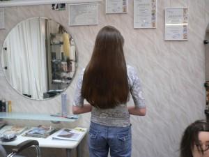 длинные черные волосы